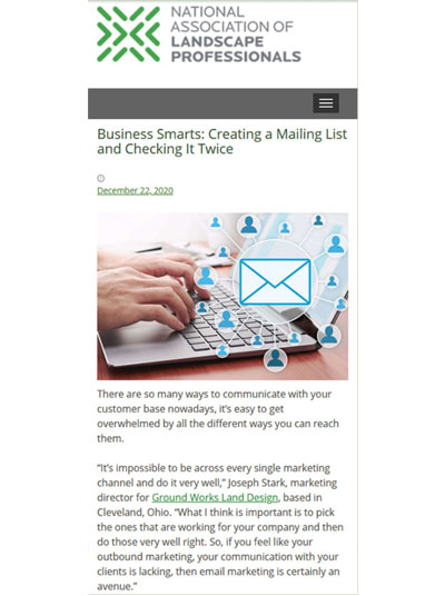 Joseph Stark - Business Smarts: Creating a Mailing List and Checking it Twice