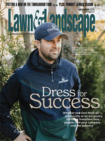 Tony Nasrallah and Joseph Stark have prioritized uniforms at Ground Works Land Design, which they both say has helped them land desirable clients.