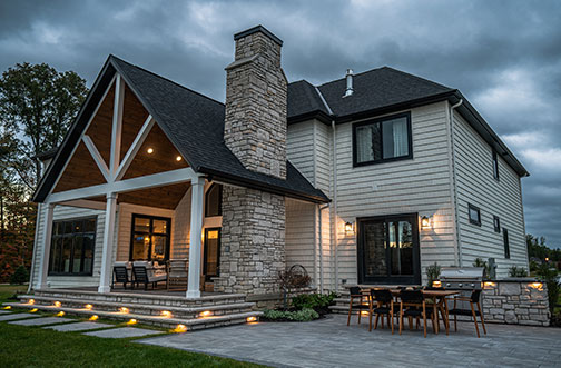 Stunning outdoor pavilion and entertainment area